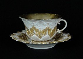 MEISSEN ANTIQUE CUP & SAUCER