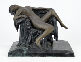 "BRONZE KOWALCZEWSKI  FIGURINE ""THE SEDUCTION OF BA"
