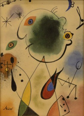 JOAN MIRO (1893-1983) ABSTRACT GAUCHE