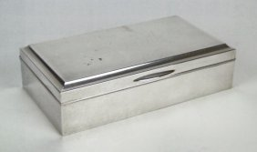 ANTIQUE CHINESE 950 STERLING & ROSEWOOD BOX
