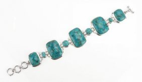 Sterling Silver Turquoise Style Semi-precious Stone