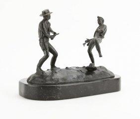Frederic Remington Bronze Sculpture Of A Quick Draw