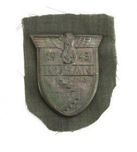 Circa 1943 German Wwii Kuban Shield. Gallery Does Not