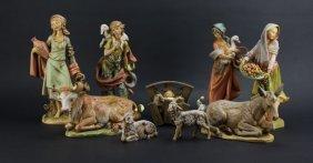 Lot Of Assorted Fontanini Italian Composition Figures.