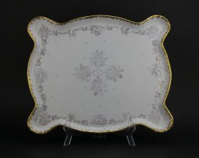 Large Early 20th Century French Porcelain Gilt And Flow