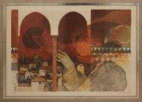 Sunol Alvar, Spanish (b-1935) Modern Lithograph Of A