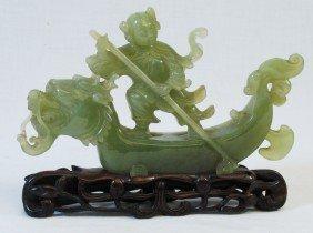 Jade Dragon Boat Carving