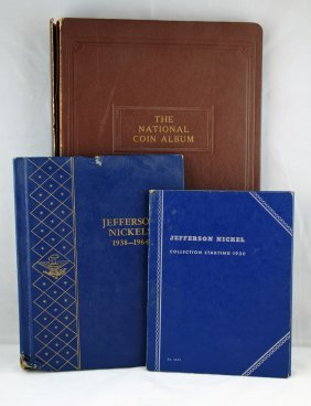 3 Books - 1938-1964 Jefferson Nickels 150 Coins
