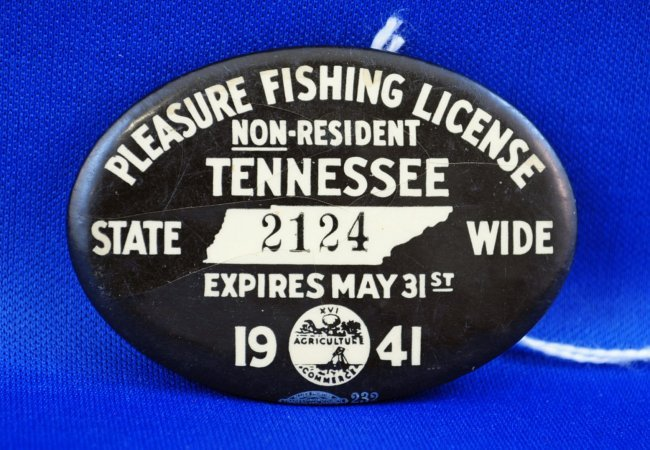 1941 tennessee non resident fishing license lot 309