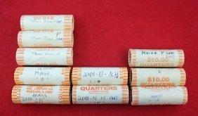 10 Rolls Uncirculated Quarters 2000 - 2003 P & D