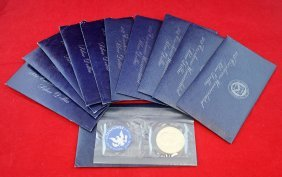 Eleven 1971- 74 S Uncirculated Eisenhower Dollars