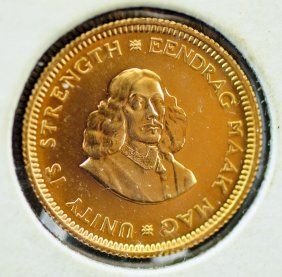 1964 South Africa 1 Rand Proof Gold Piece