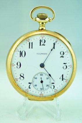 Illinois A. Lincoln 14kt Gold 21j Pocket Watch