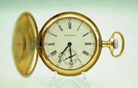 American Waltham Royal 17j Hunter Pocket Watch