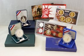 Group U.s. Mint Silver Commemorative & Proof Coins