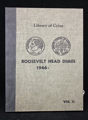 Library Of Coins Book Of Roosevelt Head Dimes 1946