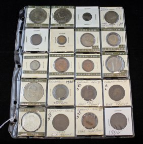 Group Of 20 Foreign Coins