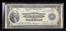 Federal Reserve One Dollar Note May 18, 1914