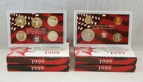 Group Of 4 1999-s U.s. Mint Silver Proof Sets