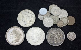 Group Of U.s. , Foreign Coins Incl. Silver Dollars