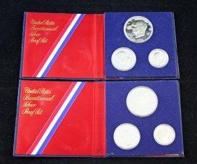 2 U.s. Mint Bicentennial 3 Coin Proof Sets 40%
