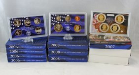 10 United States Mint Proof Sets 2006 - 2008