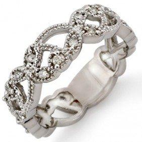 Natural 0.25 Ctw Diamond Bridal Ring 10K White Gold - L