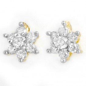 Natural 0.20 Ctw Diamond Earrings 10k Gold - L90547