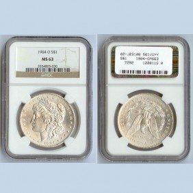 1904-O Morgan Silver Dollar Coin NGC MS63
