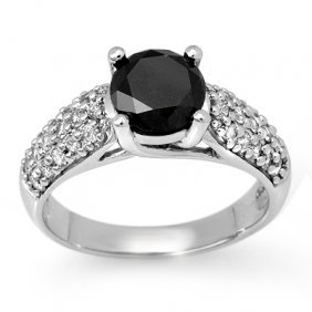 Natural 2.05 Ctw White & Black Diamond Ring 14K Gold