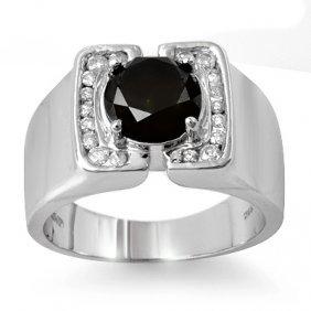 Natural 2.33 Ctw White & Black Diamond Men's Ring White
