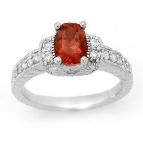 Genuine 1.58ctw Pink Tourmaline & Diamond Ring Gold