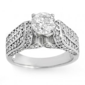 Natural 2.25 Ctw Diamond Ring 14K White Gold