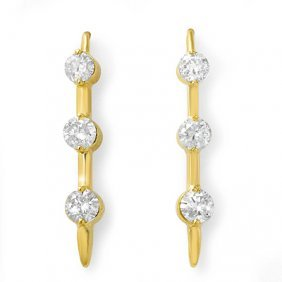 Natural 0.50 Ctw Diamond Earrings 14K Yellow Gold