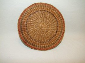 "1890s Woven Indian 8 1/4"" Diameter Plate"