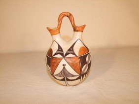 Early 1900s Acoma Pueblo Pottery Wedding Jug