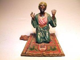 Cold Painted Bergmann Vienna Bronze Of Praying Man