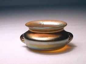 Gold Tiffany Salt With Handles