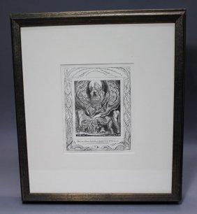"William Blake's ""book Of Job"" - Plate #5"