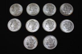 Ten 1884-o Morgan Dollars