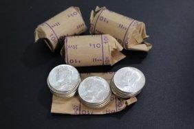 Four Original 1964 Kennedy Half Dollar Bank Rolls