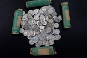 Four Rolls Of Pre-1965 Dimes