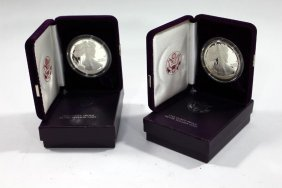 Two 1986 Silver American Eagle Coins