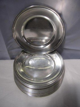Set Of 12 Gorham Sterling B & B Plates (30 Oz.) ***