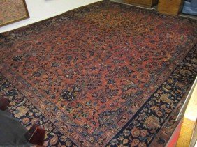 Semi-Antique Kashan Carpet - 12 X 16
