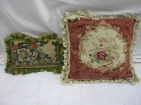 2 Pillows - Antique Aubusson And