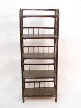 Painted Rattan Etagere