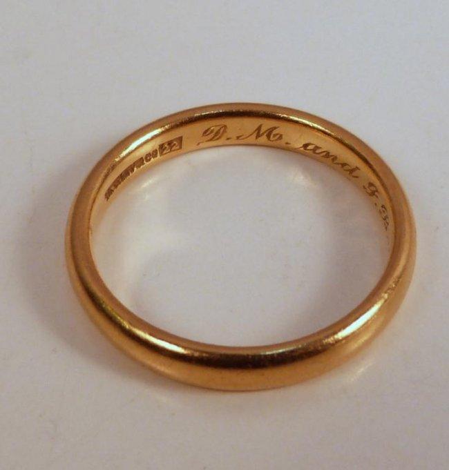 22k Gold Wedding Band 3 Perfect k gold wedding rings