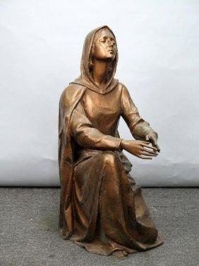Bronze - Kneeling Madonna