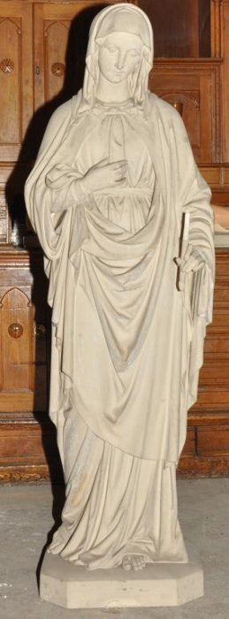 Tall Plaster Statue Of Mary